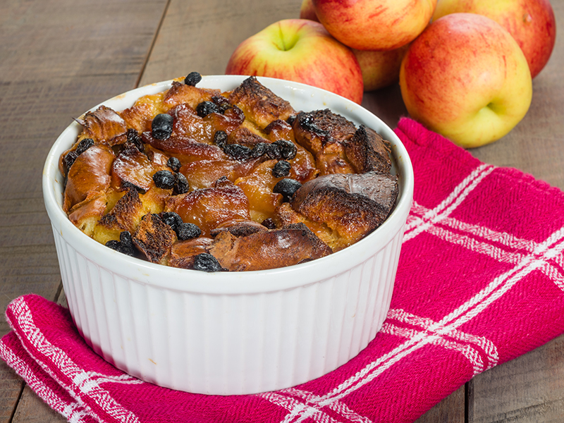 Spiced Apple Bread Pudding - Image